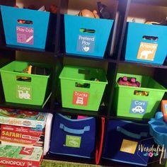 Easy Free Kids' Room Organization Labels - Wendaful