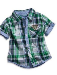 GUESS Kids Boys Baby Plaid Shirt (12 - 24m), PLAID (12M) GUESS Kids. $28.00