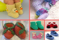 The Cutest Ever Baby Booties! 11 Free Knitting Patterns | Knitting Women