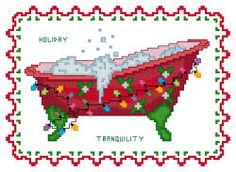 sandylandya@outlook.es  Bath Tub Collection - Holiday Tranquility  Counted Cross Stitch Designs ($)