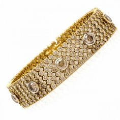 Estate 31.04ct Fancy Brown Diamond 18K Gold Bracelet 61.5 Grams Item #: 529511