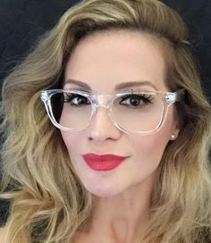 White Crystal Clear Translucent Square Celebrity Diva Frames Eye Glasses 8759 IT #Fashion