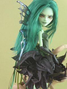 OOAK custom repaint monster High doll Amanita Nightshade Spite