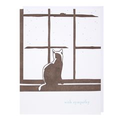 Cat in Window Sympathy Card