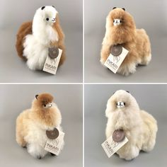 For the new small alpacas, you have to wait a little longer. coming around of April! Alpaca Plushie, Alpaca Toy, Cute Alpaca, Sewing Art, Sewing Crafts, Diy Crafts, Felt Animals, Cute Animals, Beautiful Landscape Wallpaper