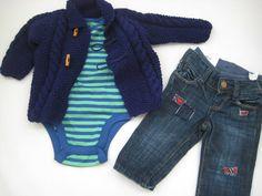 Campera de lana tejida a mano Talle: 12 meses