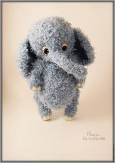 Вяжем крючком игрушку-слоник / Вязание / ProHobby.su - Вязание спицами и крючком для начинающих, схемы вязания и описание