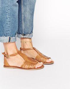 Image 1 ofASOS FUMBLE Gladiator Leather Sandals