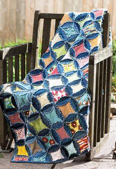 Forever in Blue Jeans - quilt denim quilt scrap quilt easy quilt (Fons & Porter - Spring 2014 issue)