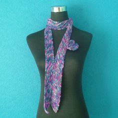 Thin Fashion Scarf with Flower Brooch in pink by thesequinnedsheep, £20.00