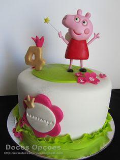 Doces Opções: Bolo de aniversário com a Porquinha Peppa