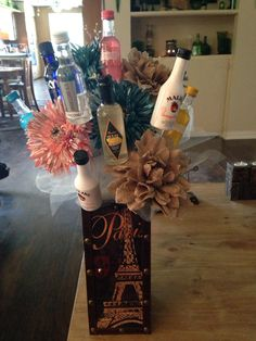 valentine's day liquor bouquet
