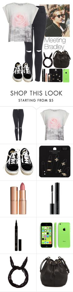 """Meeting Bradley!"" by debbie201 ❤ liked on Polyvore featuring Topshop, Wildfox, Vans, Charlotte Tilbury, Giorgio Armani, MANGO, thevamps and BradleySimpson"