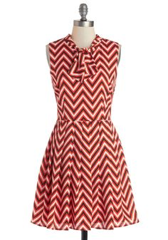 I Can Zig It Dress. Get into the groove of flaunting your coveted fashion sense by donning this ModCloth-exclusive dress! #red #modcloth