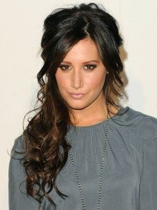 Ashley Tisdale Curly Half Updo