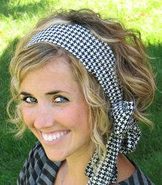 Cute hair + scarf