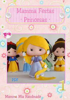 Mamma Mia Handmade: Apostila Princesas em Feltro