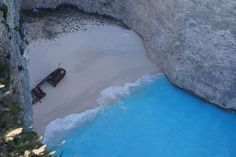 Navagio Shipwreck Beach, View From Top Shipwreck, River, Beach, Outdoor Decor, Top, The Beach, Seaside, Rivers, Crop Tee
