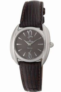 Edox Women's 21230 3D BRIR First Lady Leather Watch