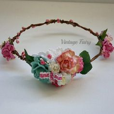 Molly flower crown by Vintage Fairy