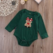 Newborn Ifant Baby Boys Girls Deer Bodysuit Jumpsuit Christmas Playsuit Outfits Clothes 0-18M(China (Mainland))
