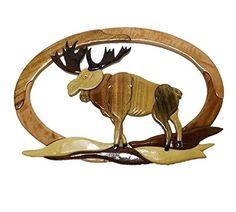 Handmade Art Intarsia Wooden Wall Plaque - Moose(079) Coastal Wood Factory http://www.amazon.com/dp/B00XAZE19S/ref=cm_sw_r_pi_dp_vv2dxb0NQWR7D