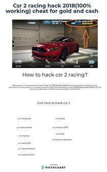 Csr 2 racing hack 2018(100% working) cheat for gold and cash