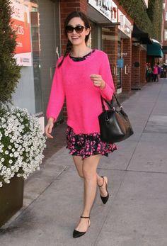 Emmy Rossum Photos - Emmy Rossum is Pretty in Pink - Zimbio