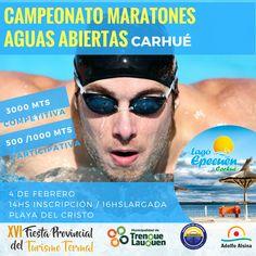 El 4 de febrero se realizará el Campeonato Regional de Maratones de Aguas Abiertas en Carhué