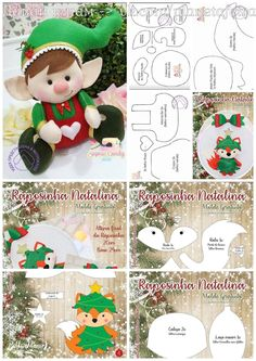 [n E W] Meowy Christmas - Ugly Sweater - Classic Long Sleeve Tee - Men's - Forest Green Christmas Animals, Christmas Crafts For Kids, Christmas Elf, Christmas Projects, Christmas 2019, Beaded Christmas Ornaments, Felt Ornaments, Felt Crafts, Diy Crafts