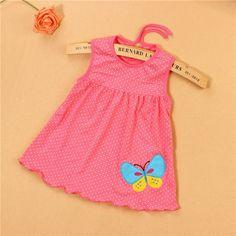 Monkids 2017 nuevo estilo baby dress princesa de rayas multicolores de verano infantil ropa de bebé vestidos de niña de las niñas recién nacidas de cutton