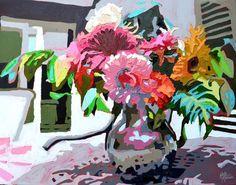 Fresh Graphics: Kate Mullin - artsy forager | #art #paintings #flowers