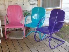 old metal chairs repainted