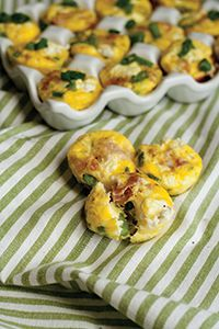 Style Recipe - Mini Asparagus & Goat Cheese Quiche Bites
