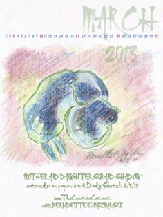 March Featured Artwork and Desktop Calendar