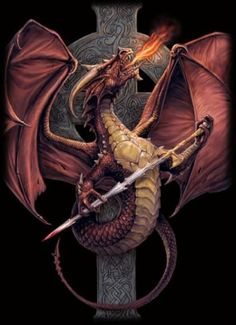Caorthannah - The Celic fire-spitter escaped the banishment of serpent by St. Patrick