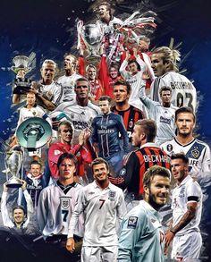 Football Art, Football Memes, Soccer Art, David Beckham Photos, David Beckham Style, Real Madrid Manchester United, Manchester United Football, Imagenes Real Madrid, David Beckham Wallpaper