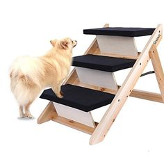 I just saw this and had to have it Homdox Wooden Folding Pet Stairs Home Pet Animal Dog Ramp 3 Step Stairs Steps Ladder you can {read more about it here http://bridgerguide.com/homdox-wooden-folding-pet-stairs-home-pet-animal-dog-ramp-3-step-stairs-steps-ladder/