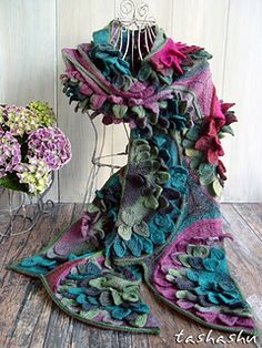 Scarf Water lily by Svetlana Gordon