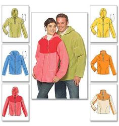 Misses'/Men's Tops and Unlined Jackets McCalls 5538 Boys Sewing Patterns, Mccalls Patterns, Simplicity Sewing Patterns, Clothing Patterns, Sewing Clothes, Diy Clothes, Fleece Projects, Jacket Pattern, Mens Tops