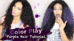 Let Me Try Some Purple Hair!!! Easy Purple Hair Color Tutorial Feat. Vir...