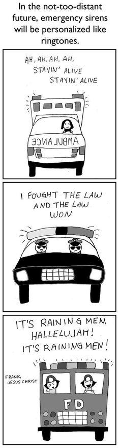 Snape as an ambulance driver