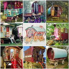 I want to go camping in a gypsy wagon.