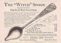 The Salem Witch spoon is given credit for starting the souvenir spoon hobby in the US. Every Salem Witch collector needs one of these. They're easy to find and not too expensive. I'd have a whole dinner set of this pattern if they made one.