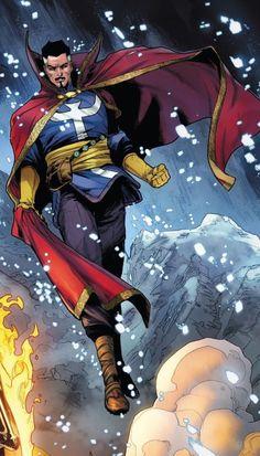 Marvel Comics Art, Marvel Vs, Marvel Heroes, Comic Books Art, Comic Art, Book Art, Doctor Strange Comic, The Ancient One, New Avengers