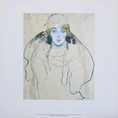 Full-Face Portrait of a Lady by Gustav Klimt