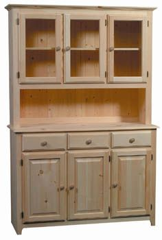 Pine Hutch Unfinished Furniture New Jersey York And Pennsylvania Offering Wood