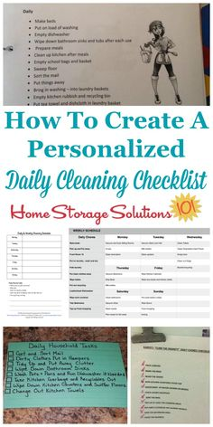 is how to create a personalized daily cleaning checklist for your home which will be one of the two major compnents of your house cleaning schedule. There are also several examples from participants who've already done this task {on Home Storage Solutions Daily Cleaning Checklist, Deep Cleaning Tips, Cleaning Hacks, Cleaning Schedules, Cleaning Routines, Daily Schedules, Daily Routines, Clean House Schedule, Sweat Stains