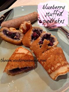 Blueberry stuffed pancakes fromDiet-to-Go! #diettogo