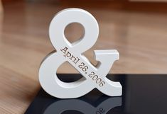 """5 '' White Personalized Wood Ampersand Free Standing Wooden Letters Ampersand for Wedding Gift Home Decor Wedding Anniversary 5 """" White Personalized Wood Ampersand Free Standing Wooden Letters Ampersand for Wedding Gift Home Decor 5th Anniversary Gift Ideas, Anniversary Decorations, Wedding Anniversary Gifts, Gift Wedding, Rustic Wedding, Wedding Decorations, Wedding Ceremony Ideas, Wedding Signs, Personalized Valentine's Day Gifts"""